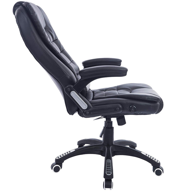 executive recline padded swivel office chair with vibrating massage function black