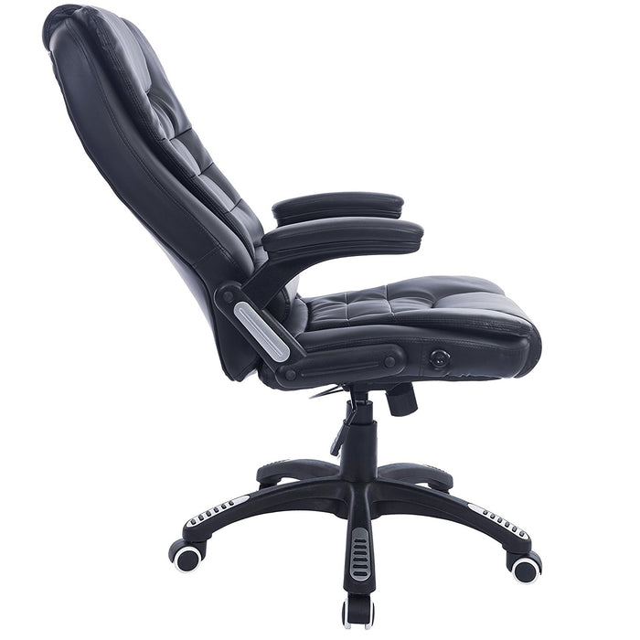 executive recline high back extra padded office chair black