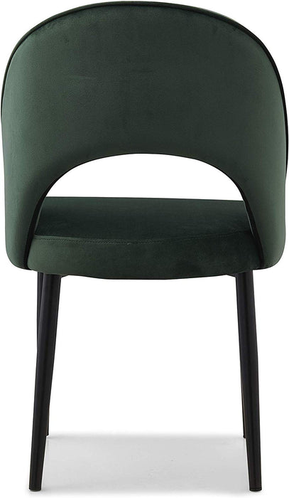 Calgary Set of 2 Velvet Dining Chairs in Green 7