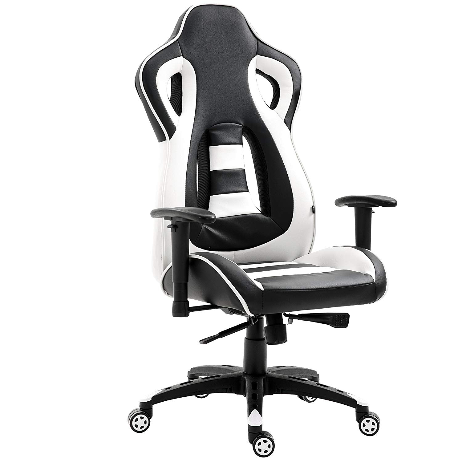 ctf racing style high back swivel gaming chair computer desk chair with back vents design white