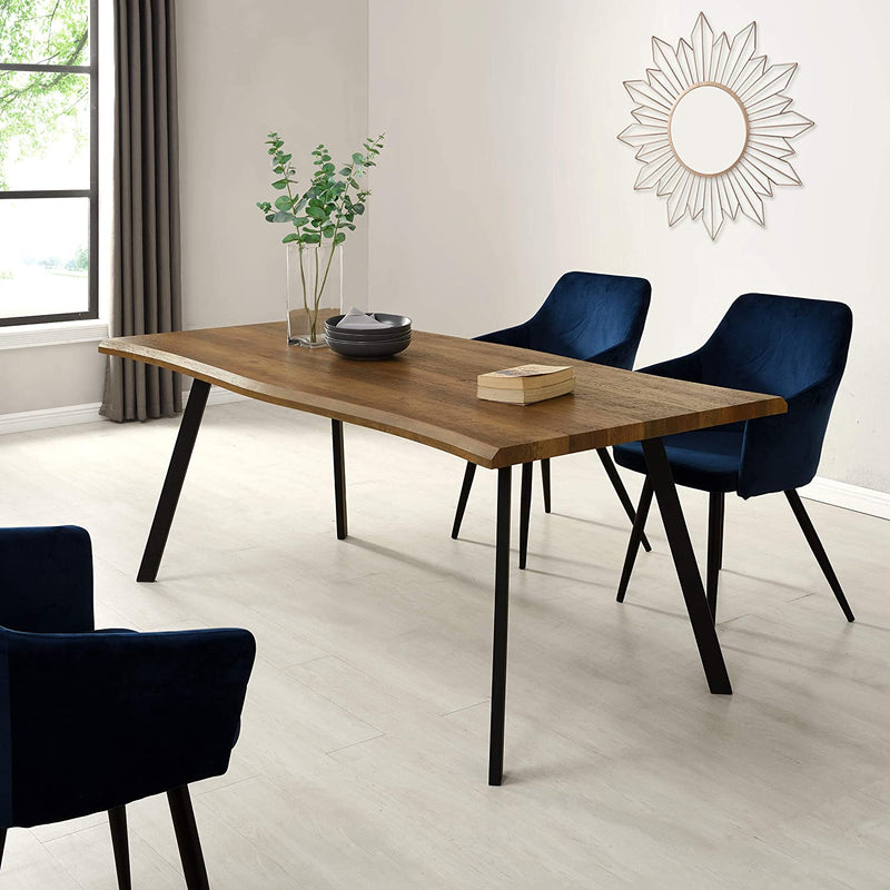 Kenora Wood Effect 180 cm Dining Table with Curved Edges 6 Seater 2