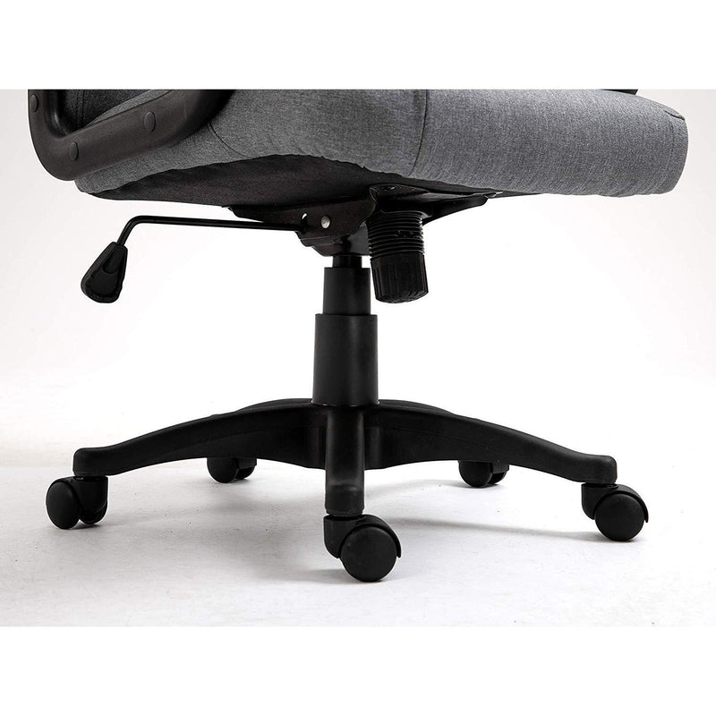 DaAls Swivel Office Desk Chair MO19 Grey Fabric 8