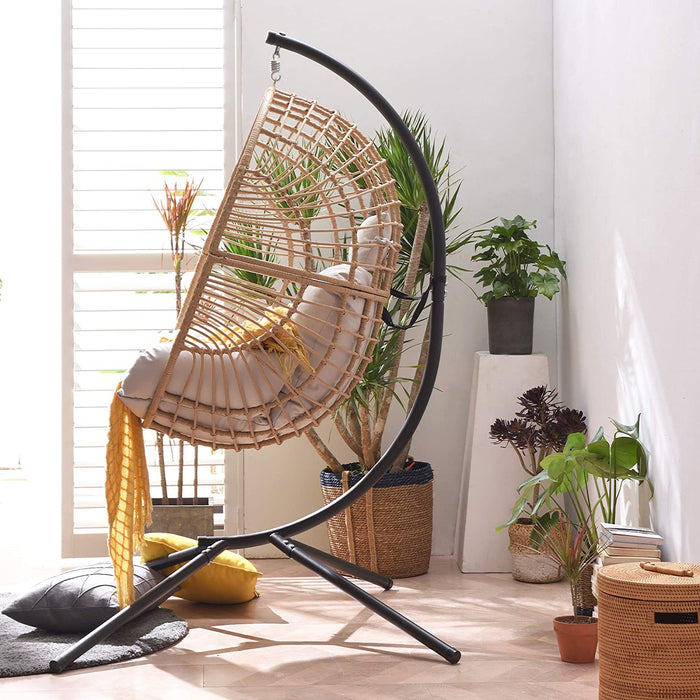 Marigold Rattan Effect Hanging Egg Chair 3