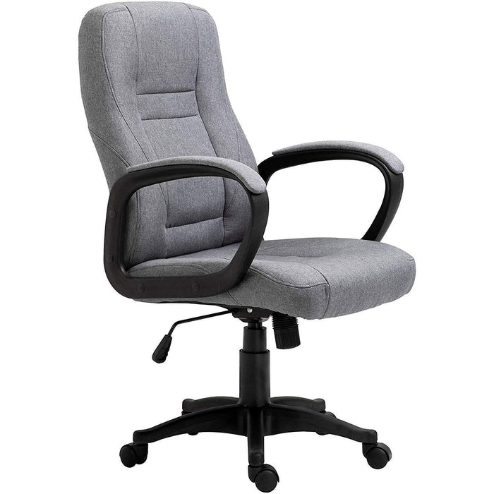 DaAls Swivel Office Desk Chair MO19 Grey Fabric 1