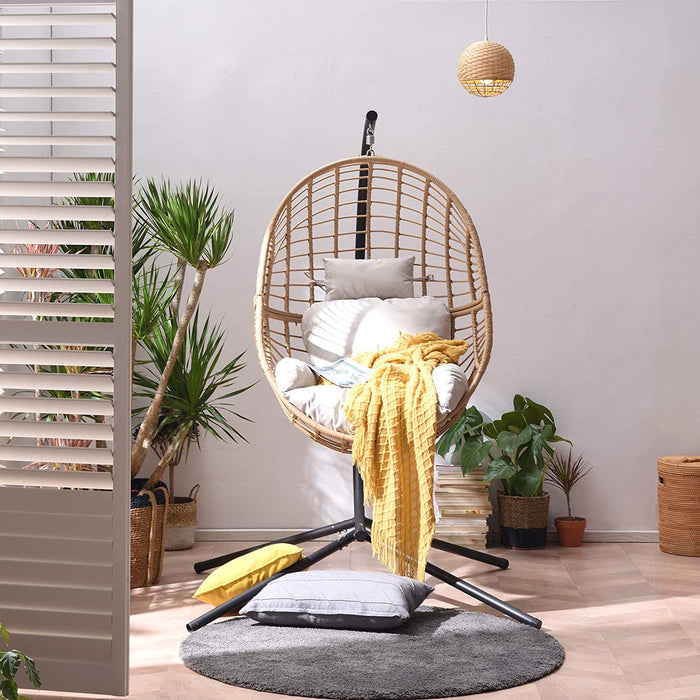 Marigold Rattan Effect Hanging Egg Chair 2