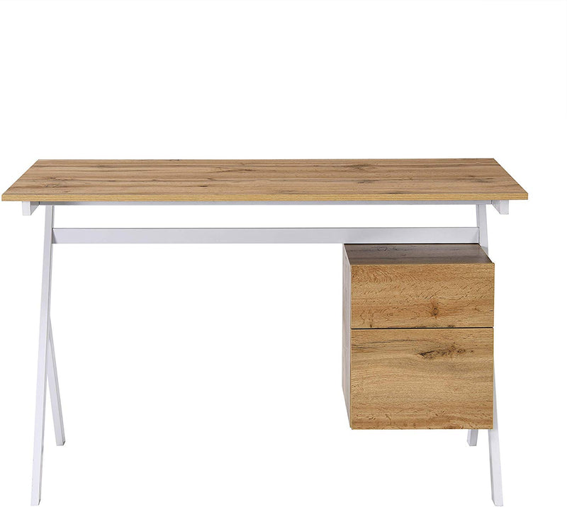 SION Desk with Drawer & Cupboard Oak 5