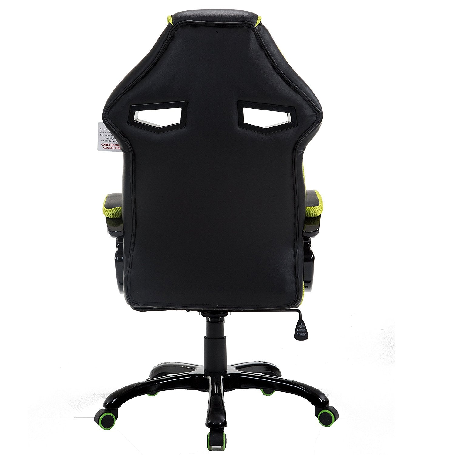 Phenomenal Ctf Racing Style Gaming Pu Leather Swivel Desk Chair With Fabric Trim Green Onthecornerstone Fun Painted Chair Ideas Images Onthecornerstoneorg