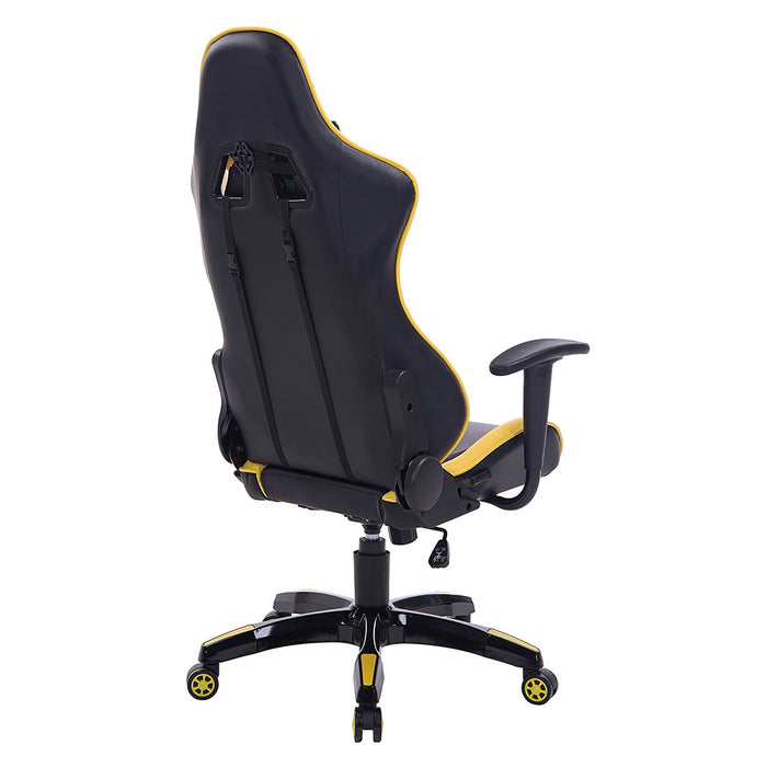 CTF PRO High Back Metal Frame Swivel Gaming Chair with 3-D Adjustable Armrests, Yellow