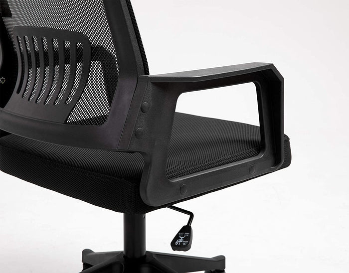 Beni Mesh Fabric Swivel Office Chair with Headrest Black 8