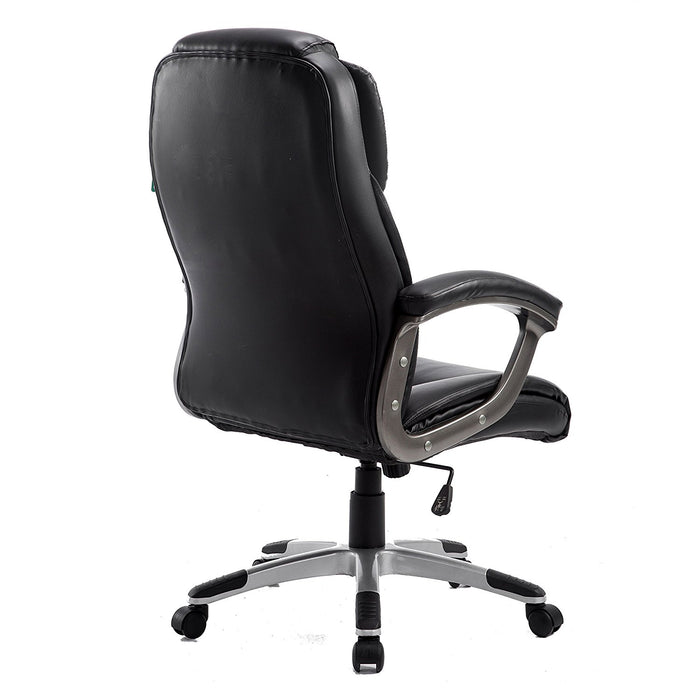 high back pu leather extra padded swivel executive chair mo58 black