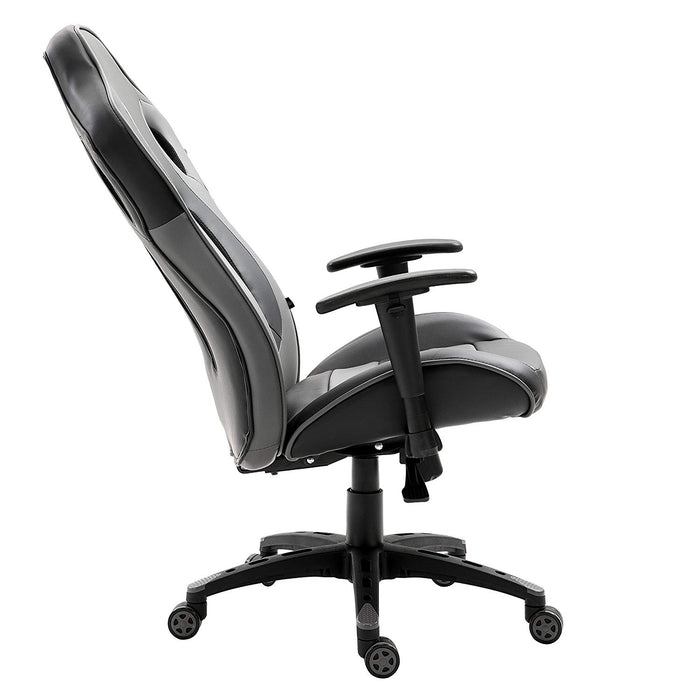 CTF Racing Style High Back Swivel Gaming Chair Computer Desk Chair with Back Vents Design, Grey