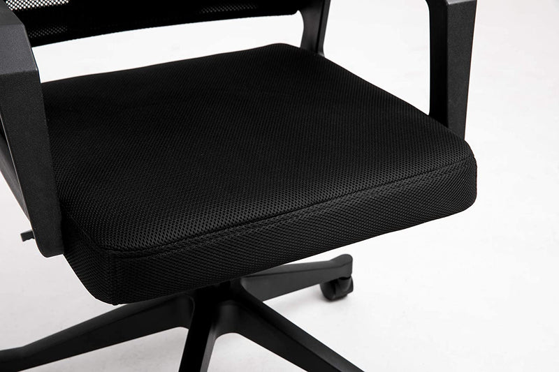 Beni Mesh Fabric Swivel Office Chair with Headrest Black 7