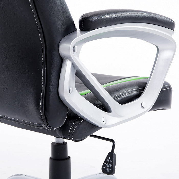 DaAls-Racing-Sport-Swivel-Office-Chair-in-Black-Green 7