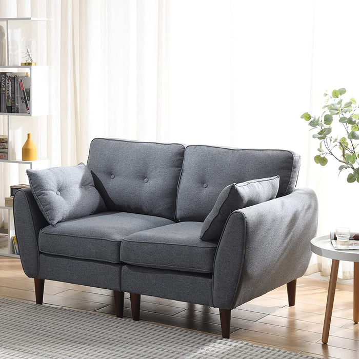 Brooks Fabric Sofa range in Stone Grey 1