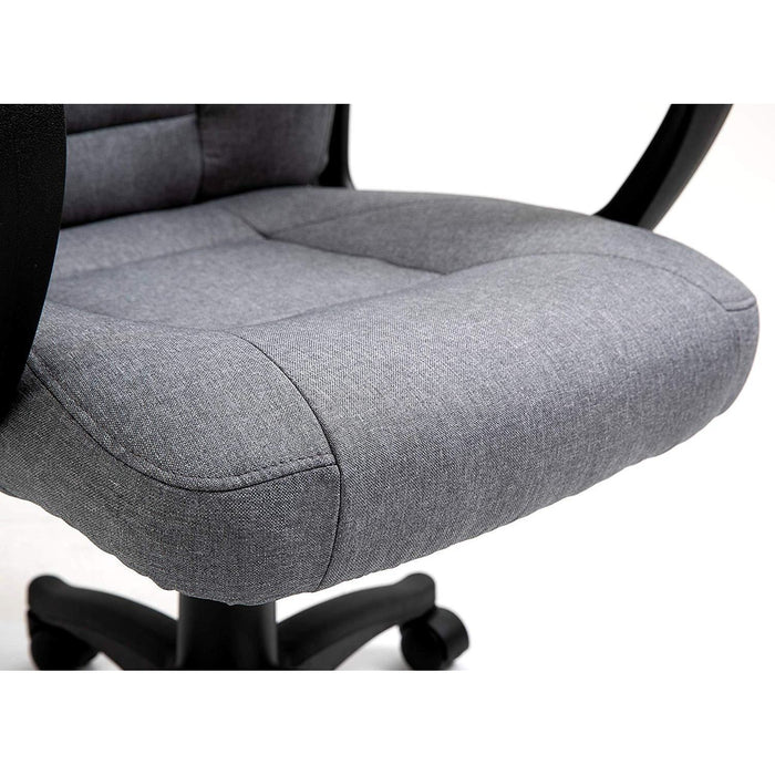 DaAls Swivel Office Desk Chair MO19 Grey Fabric 6