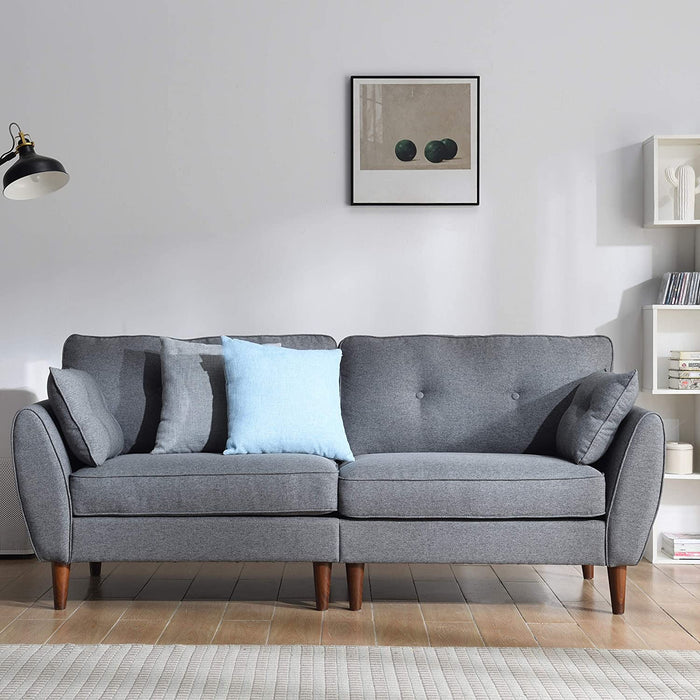 Brooks Fabric Sofa range in Stone Grey 10