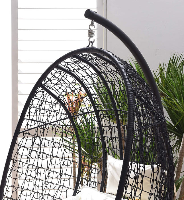 Azura Black Patio Hanging Egg Chair 4