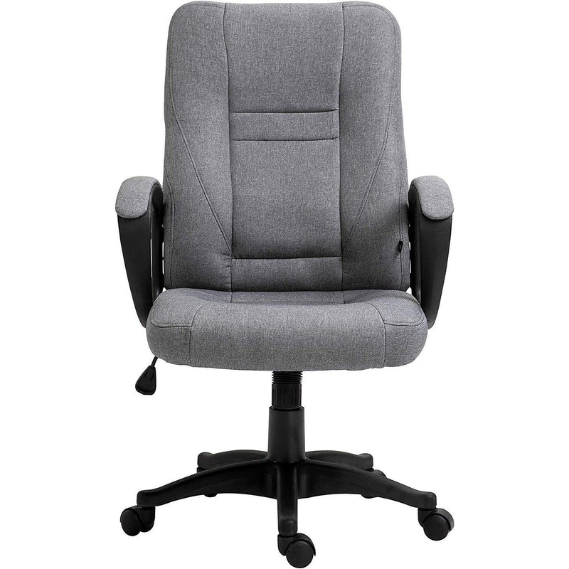 DaAls Swivel Office Desk Chair MO19 Grey Fabric 3