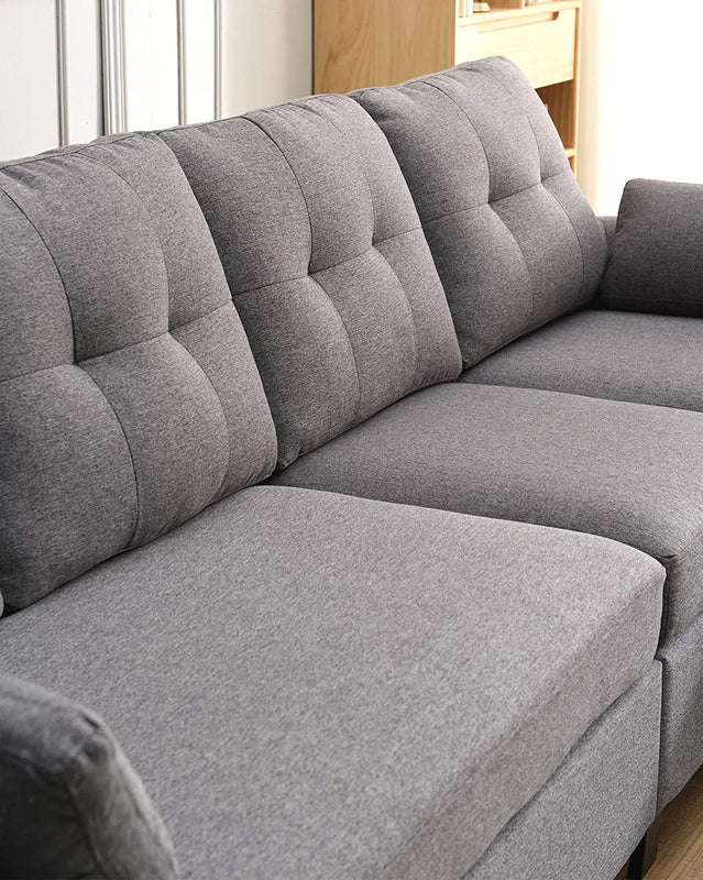 Brunswick 4 Seater Storage Chaise Sofa in Grey 6