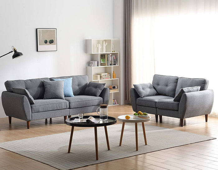 Brooks Fabric Sofa range in Stone Grey 12