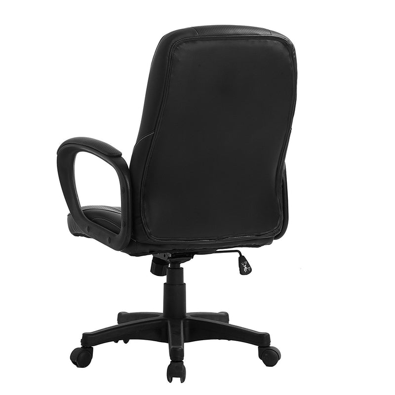 DaAls Swivel Office Desk Chair MO19 Black PU Leather 3