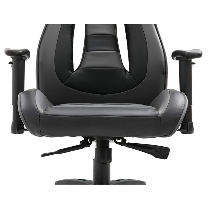 ctf racing style high back swivel gaming chair computer desk chair with back vents design grey