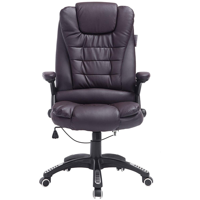 Executive Recline High Back Extra Padded Office Chair, Brown