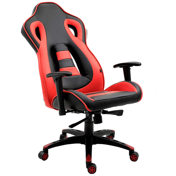 ctf racing style high back swivel gaming chair computer desk chair with back vents design red