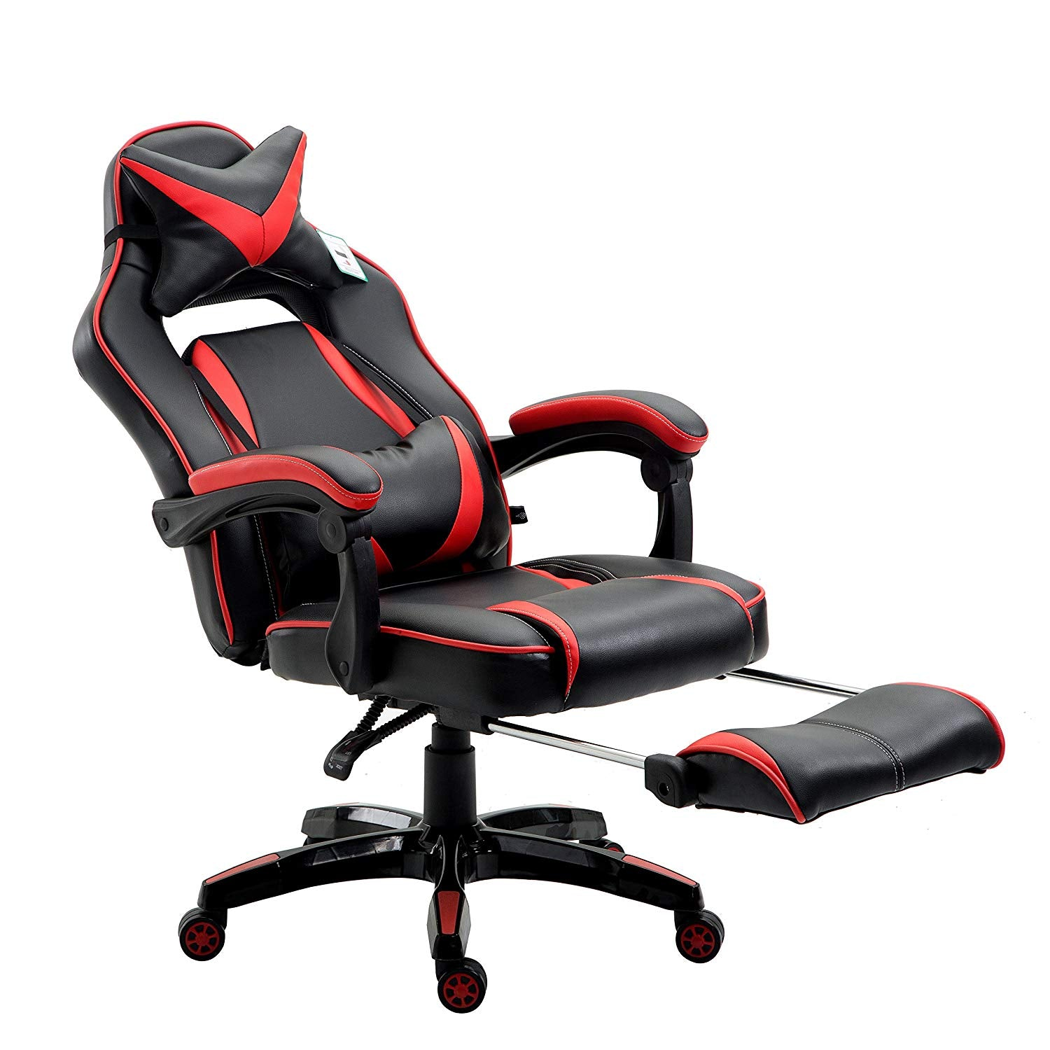 High Back Recliner Gaming Swivel Chair With Footrest