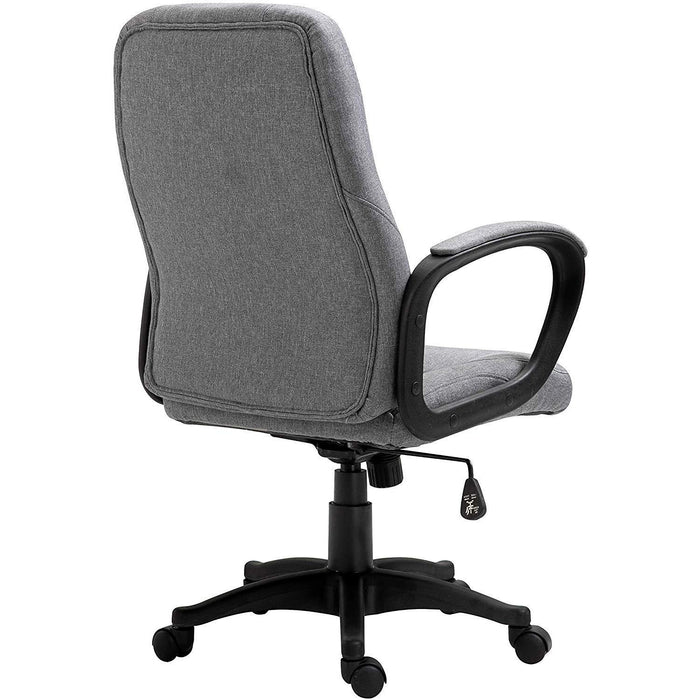DaAls Swivel Office Desk Chair MO19 Grey Fabric 4