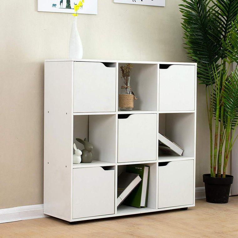 NORDI 3 X 3 Compartment Storage Unit Organiser Sideboard Cabinet Cube Unit