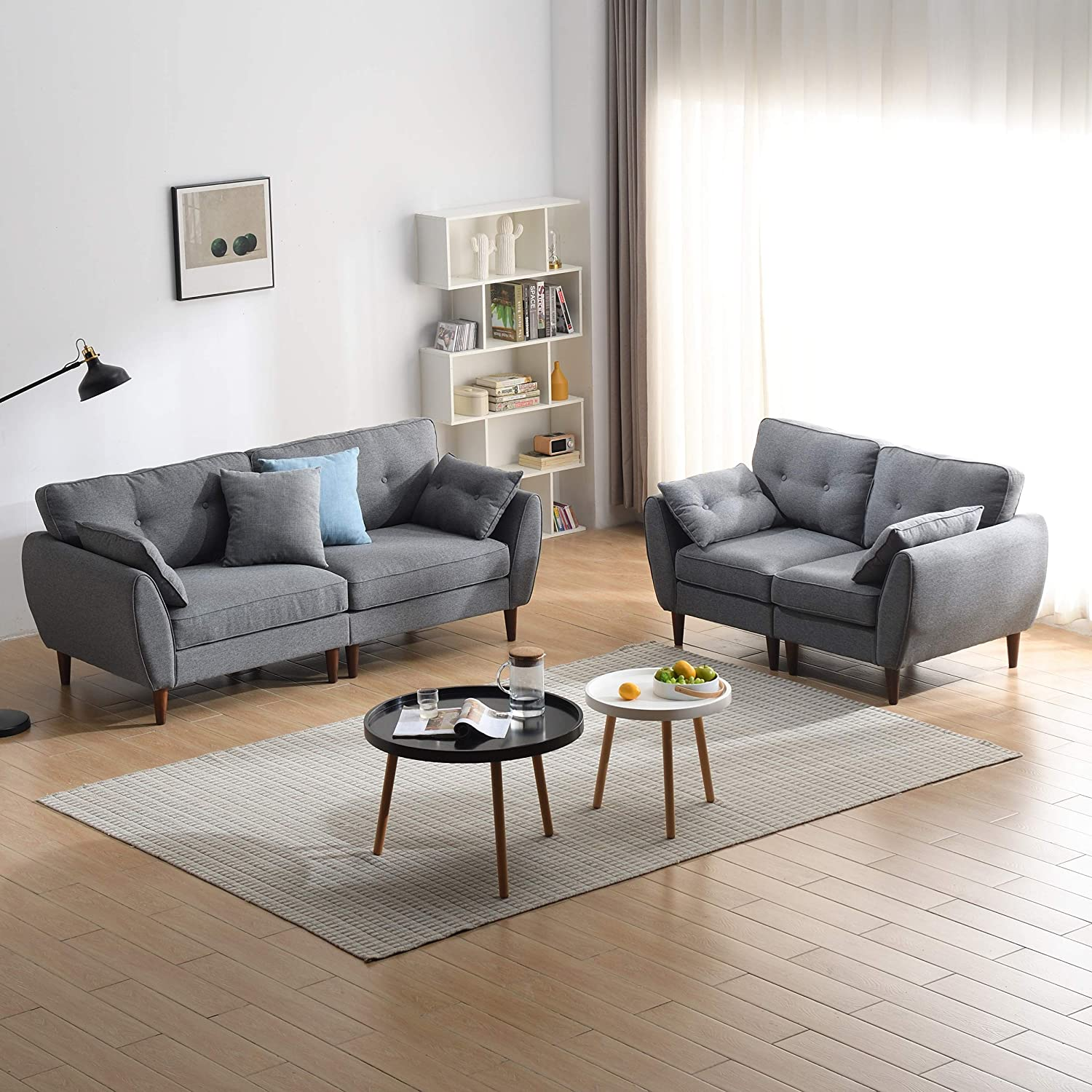 Brooks Fabric Sofa range in Stone Grey 4