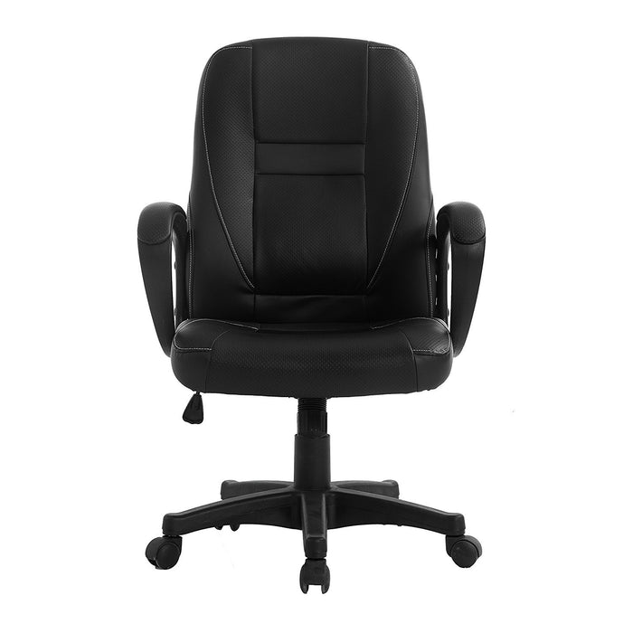 DaAls Swivel Office Desk Chair MO19 Black PU Leather 1