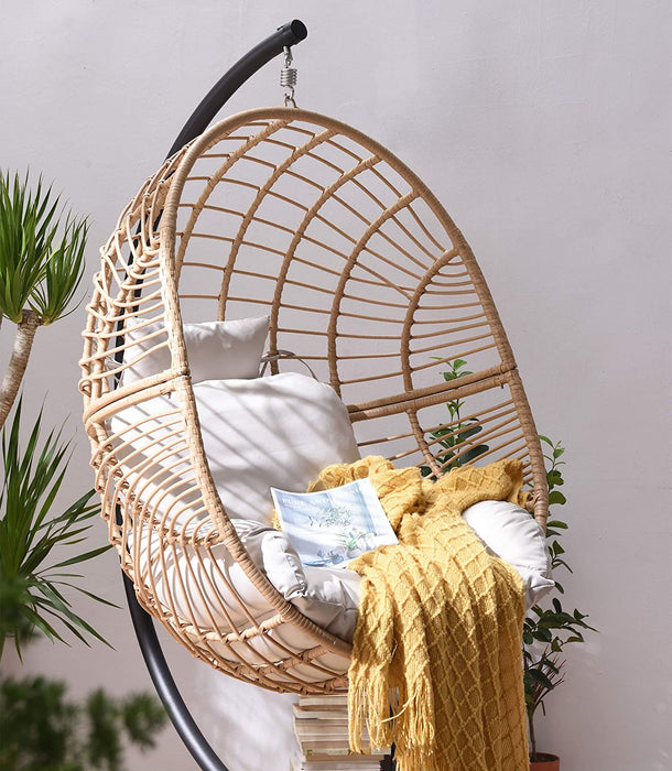 Marigold Rattan Effect Hanging Egg Chair 6