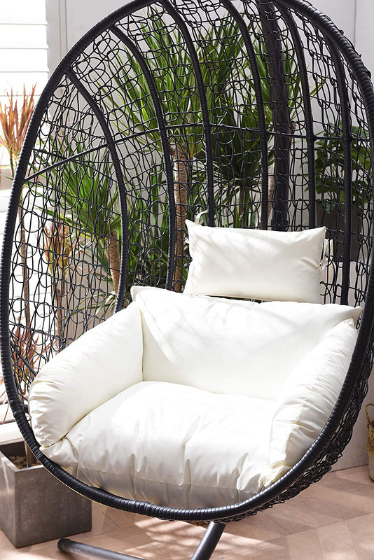 Azura Black Patio Hanging Egg Chair 5