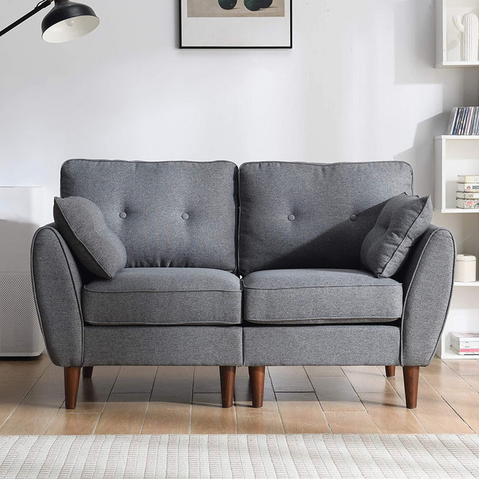 Brooks Fabric Sofa range in Stone Grey 2