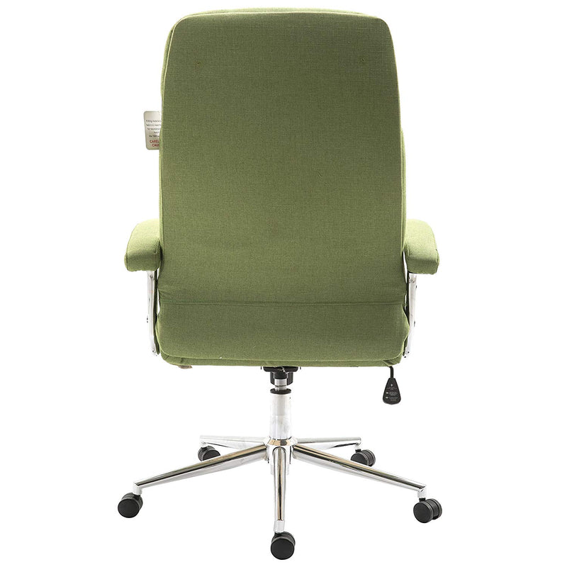premium fabric swivel office chair computer desk chair with chrome armrests base green