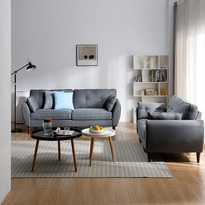 Brooks Fabric Sofa range in Stone Grey 13