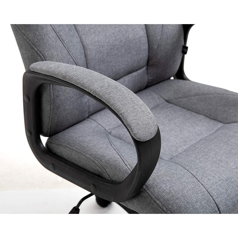 DaAls Swivel Office Desk Chair MO19 Grey Fabric 5