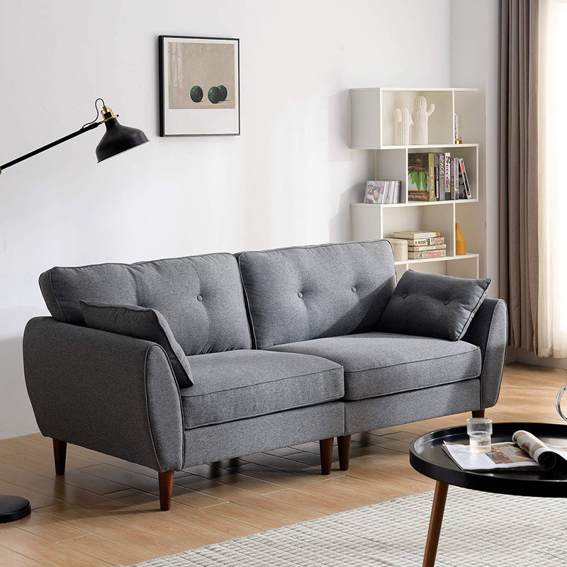 Brooks Fabric Sofa range in Stone Grey 9