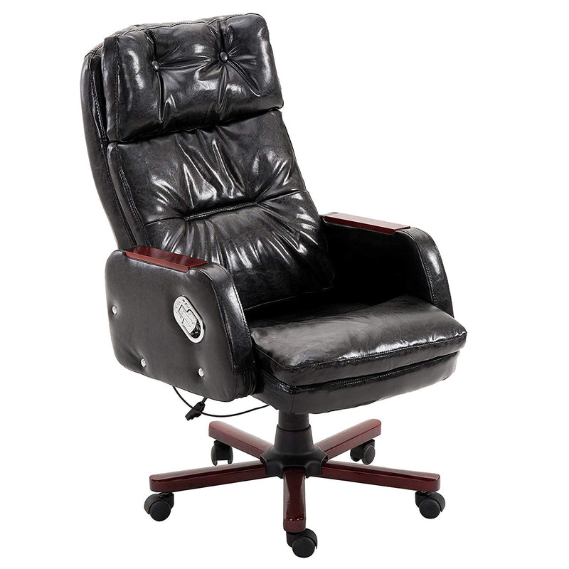luxury pu leather executive swivel computer chair office desk chair with latch recline mechanism