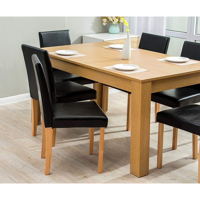 7 piece dining room set 6 seater dining table with 6 chairs