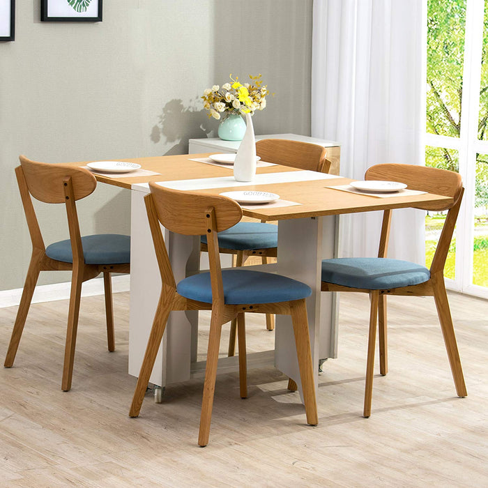 simba oak white colour folding 2 4 seater dining table with gateleg