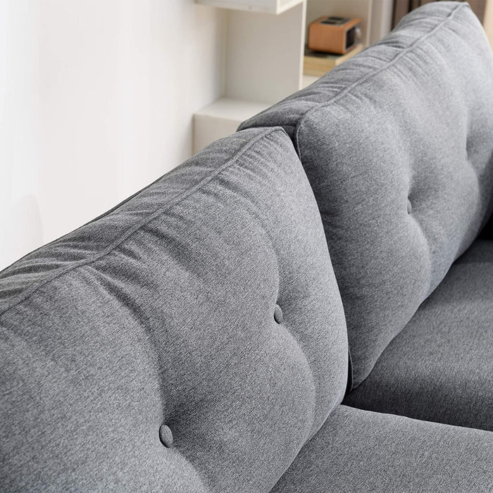 Brooks Fabric Sofa range in Stone Grey 15