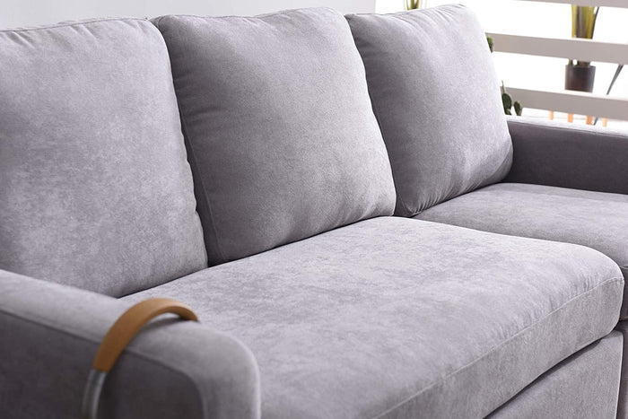 Campbell 3 Seater Sofa with Reversible Chaise in Light Grey 6
