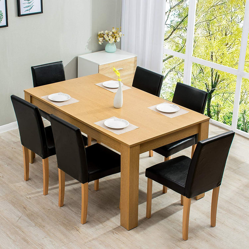 7-Piece Dining Room Set 6-Seater Dining Table with 6 Chairs