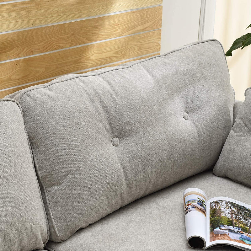 Brooks Fabric Sofa range in Stone Beige 9