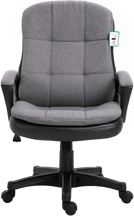 Jona Double Layer Padded Office Chair Grey 2
