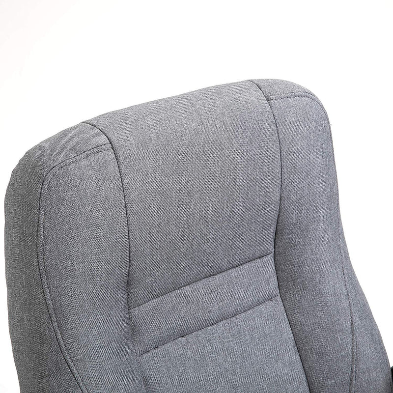 DaAls Swivel Office Desk Chair MO19 Grey Fabric 7