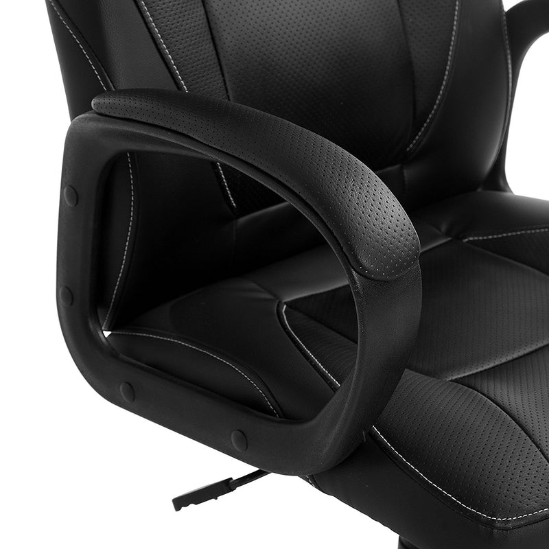 DaAls Swivel Office Desk Chair MO19 Black PU Leather 5